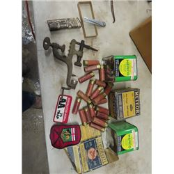 Ammo Black Powder Tin, Old Ammo Box & Shells Winchester Patch, Reloading Tool, - NEED A PAL To PURCH