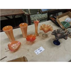 7 Pcs Carnival Glass