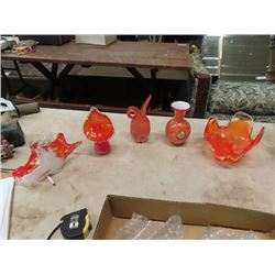5 Murano Center Piece Vases