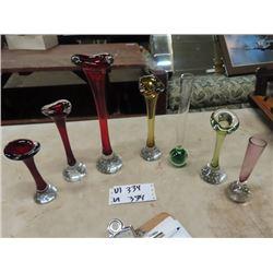 7 Murano Vases