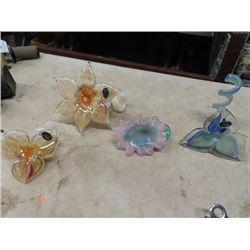 4 Murano Fancey Flower Pcs/Ornaments