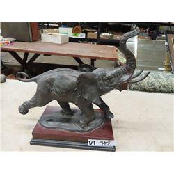 "Bronze Elephant Statue14""H 16""L"