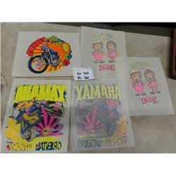 Vintage T Shirt Iron On's- Honda, Yamaha, & Raggedy Anne& Andy