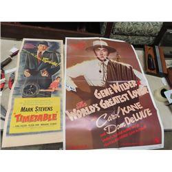 2 Movie Posteres 1956 -Timetable, & 1977 Gene Wilder- World's Greatest Lover