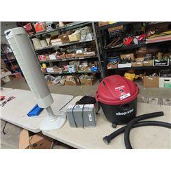 Shop Vac, Heater & Fan