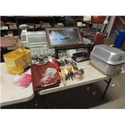 Aluminum Roaster, Oster Juicer, Utensils, & Cutting Board & More!