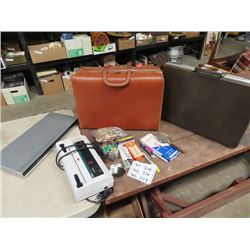Sony DVD Player, Paper Shredder , Office Items & Leather Brief Cases
