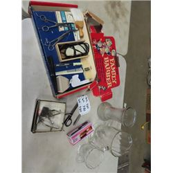 Family Barber Set, Clippers, Knitting Needles Vase and Pitcher Plus More!