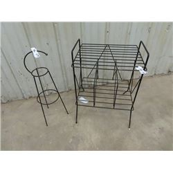 Wrought Iron ashtray Stand, & Record Player / Stand