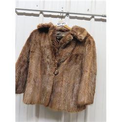 Stylish Ladies Short Fur Coat
