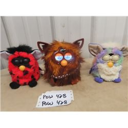 3 Furbys- 1 Is Chewbacca- Works, Sleeps & Sounds