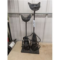 "Unique Tall 29""H Metal Cat Ornament/Display"