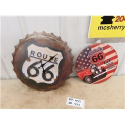 Route 66 Clock & Wall Display