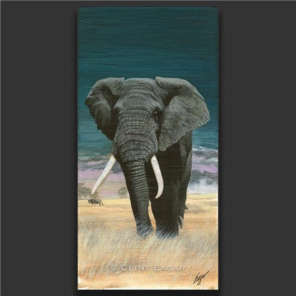 LIVE AUCTION ONLY--Bull Elephant or Mountain Ram Giclee