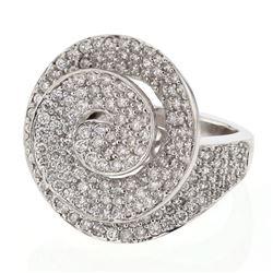 Natural 2.36 CTW Diamond Ring 18K White Gold - REF-304F2M