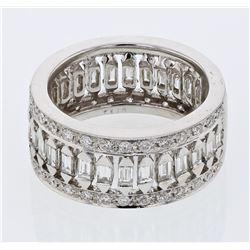 Natural 1.72 CTW Baguette & Diamond Ring W=9MM 18K Gold - REF-248K4R