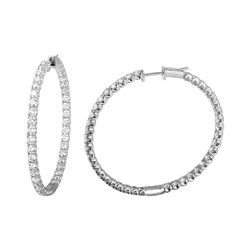 Natural 4.29 CTW Diamond Earrings 14K White Gold - REF-414F9M