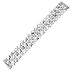 Natural 4.20 CTW Diamond Bracelet 14K White Gold - REF-527N4Y