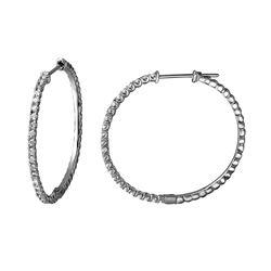 Natural 0.81 CTW Diamond Earrings 14K White Gold - REF-107F3M