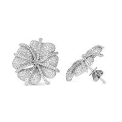 Natural 4.85 CTW Diamond Earrings 14K White Gold - REF-341W3H