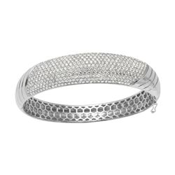 Natural 6.28 CTW Diamond Bracelet 14K White Gold - REF-614F7M