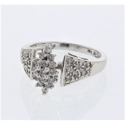 Natural 0.50 CTW Diamond Ring W=12MM 14K Gold - REF-56F7M