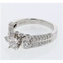 Natural 0.80 CTW Diamond Ring W=5MM 14K Gold - REF-123T3X