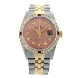 Rolex Pre-owned 36mm Mens Salmon Two Tone