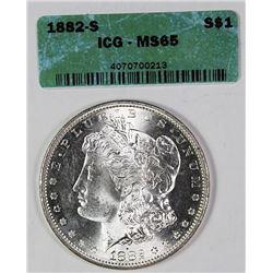 1882-S MORGAN SILVER DOLLAR