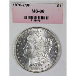 1878 7/8F MORGAN SILVER DOLLAR