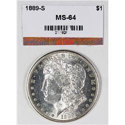 1889-S MORGAN SILVER DOLLAR