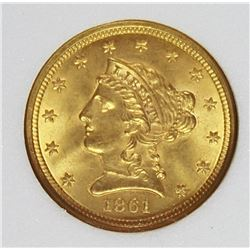 1861 $2.50 GOLD LIBERTY