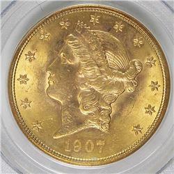 1907 $20 LIBERTY GOLD