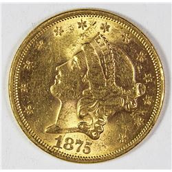 1875-S TYPE 2 $20 GOLD