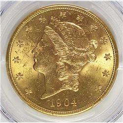 1904-S $20 GOLD LIBERTY