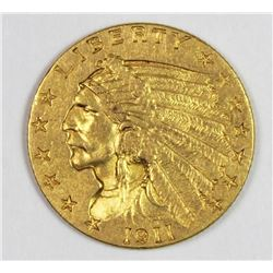 1911 $2.50 GOLD INDIAN