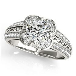 2.05 ctw Certified VS/SI Diamond Halo Ring 18k White Gold - REF-538A2N