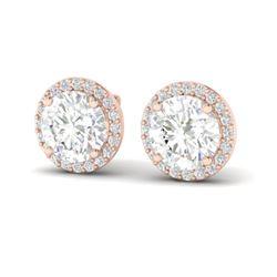 3.50 ctw VS/SI Diamond Certified Earrings 14K Rose Gold - REF-834G5W