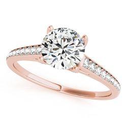 1.2 ctw Certified VS/SI Diamond Ring 18k Rose Gold - REF-156X3A