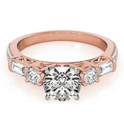 2 ctw Certified VS/SI Diamond Pave Ring 18k Rose Gold - REF-339G2W