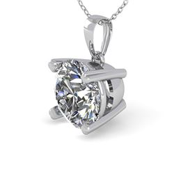 2 ctw Certified VS/SI Diamond Necklace 18K White Gold - REF-761X5A