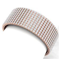 43 ctw VS/SI Diamond Unisex 8 Inches Bracelet 18K Rose Gold - REF-2895G2W