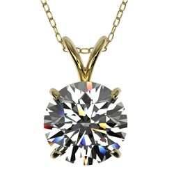 2.03 ctw Certified Quality Diamond Necklace 10k Yellow Gold - REF-449H5R