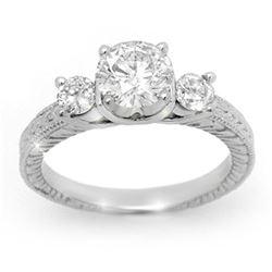 1.50 ctw Certified VS/SI Diamond Ring 14k White Gold - REF-393A9N