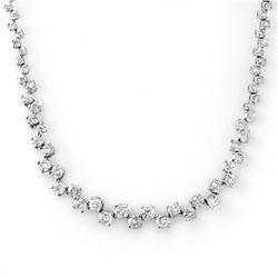 10.0 ctw Certified VS/SI Diamond Necklace 14k White Gold - REF-569M9G