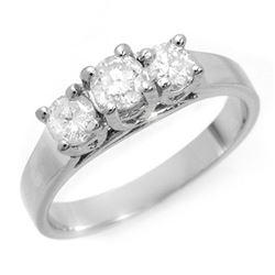 0.50 ctw Certified VS/SI Diamond 3 Stone Ring 14k White Gold - REF-76Y4X