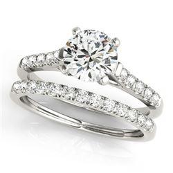 1.02 ctw Certified VS/SI Diamond 2pc Wedding Set 14k White Gold - REF-117K3Y