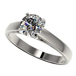 1.25 ctw Certified Quality Diamond Engagment Ring 10k White Gold - REF-177X8A