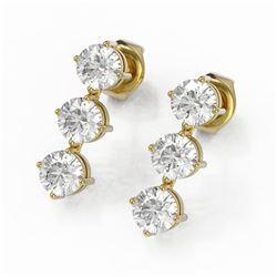 1.68 ctw Diamond Designer Earrings 18K Yellow Gold - REF-176R9K