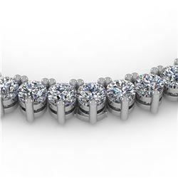 22 ctw 3 Prong VS/SI Diamond Riviera Necklace 14K White Gold - REF-2004Y5X